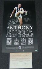 ANTHONY ROCCA COLLINGWOOD MAGPIES HAND SIGNED AFL PRINT SWAN BUCKLEY PENDLEBURY