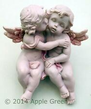 Guardian Angel Cherub Sitting Kissing Figure Engagement Wedding Anniversary New