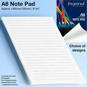 Mini Notepad Notebook A6 Jotter Note Paper Scribble Pad Pocket Size Sketchpad UK