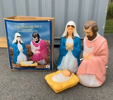Plastic light up yard nativity set