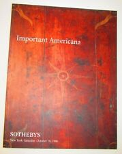 Sotheby's Auction Sale Catalog #6899 October 19, 1996 Important Americana