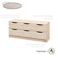 Commode 6 tiroirs Sonoma chêne simple épuré fonctionnel moderne glissières mé...