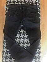 NWT $1055 BALMAIN Slim-Fit Cotton Black Biker Jean sizes 36 & 38