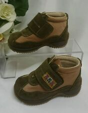 BABY Halb Kinder Schuhe Herbst MADE IN ITALY Gr. 19 Braun LEDER