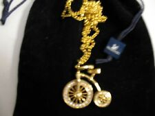 Swarovski Tricycle Bicycle Pendant Necklace Signed - New - *Rare*
