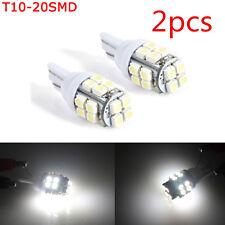White LED Car Inverted Side Wedge Light Bulbs T10 W5W 194 168 501 20SMD 12V cn