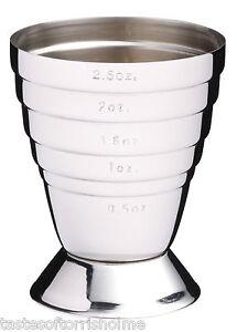 Bar Craft Multi Level Stainless Shot Pourer Drinks Spirit Measure Jigger Cup