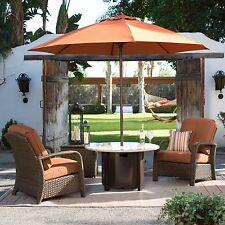 New listing Terracotta 9 Foot Diam. Outdoor Patio Umbrella Home Furniture Sunbrella Fabric