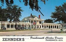 MI, Michigan  ZEHNDER'S Frankenmuth CHICKEN DINNERS  50's Cars  Chrome Postcard