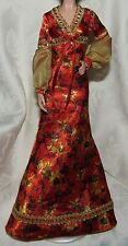 BARBIE MODEL MUSE 007 LIVE AND LET DIE ORANGE GOLD TRIM GOWN DRESS DOLL FASHION