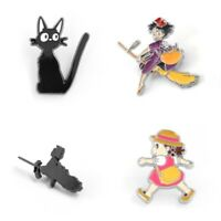 Kiki's Delivery Service Lovely Girls Cats Cartoon Anime Badge Enamel Brooch Pins