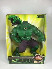 "Marvel 2003 Toy Biz  Hulk  13"" Poseable Raging Hulk (PACKAGE HAS WEAR)"