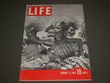1940 JANUARY 22 LIFE MAGAZINE - DUTCH EAST INDIANS COVER - BO 223