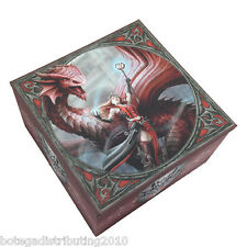 Scarlet Mage Box W/ Mirror Trinket Box Anne Stokes Collection Dragon Keeper