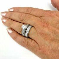 Platinum Diamond Bridal set GIA certified F-VS1 1.01 ct Total approx 3.26 ct