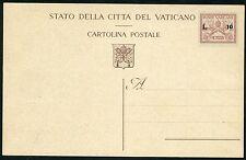 Vaticano - 1947 - Cartolina Postale Lire 10 su 75 cent. Filagrano n.C.5 - MNH
