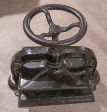 "Antique Cast Iron Book Press, Good Working Condition, press plate 9.75"" x 12.5"""