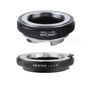 Adapter M42-CR for M42 mount lens to CANON EOS RF R5 R6 mount Camera