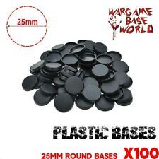 Lot of 100 - 25mm Plastic bases for miniature - 25mm round bases