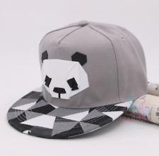 ✅UK✅ UNISEX GREY PANDA cap /Snapback/Flat cap/Fashion Hats/Hiphop/Grime✅(13)