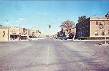 CHADRON NE 1965 Street Scene Old Stores Cars People VINTAGE USA GEM+++
