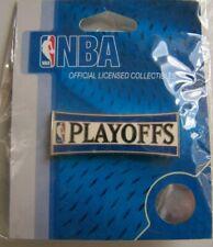 NBA PLAYOFFS Pin Basketball Jerry West Logo Sealed AMINCO