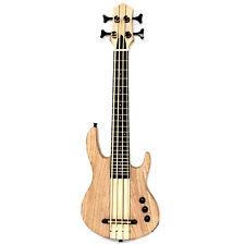 Mini 4 Cuerdas Bajo Eléctrico ukelele color natural estilo Neck-thru