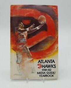 Atlanta Hawks 1981-82 Media Guide Yearbook NBA Magazine Publication Basketball