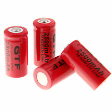 4X CR123A 2500mAh 16340 3.7V Rechargeable Li-Ion Battery for Flashlight Torch US