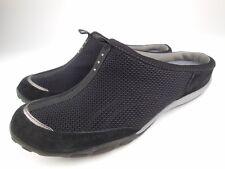 PRIVO CLARKS Akshi Black Suede Mesh Slip On Mules Shoes Sz 7 M