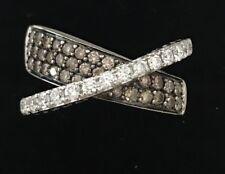 LeVian Chocolate Diamond Ring Crossover 14 K  White Gold