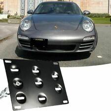 Front Bumper Tow Hook License Plate Mount Bracket For Porsche Panamera 911 991
