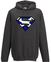 Superman Scotland Hoodie - Rugby Football Sport Scottish Flag Birthday Gift Xmas