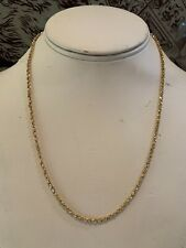 """RVL 14k yellow gold braided box link chain necklace 18.5"""" twist rope 6.4g tube"""