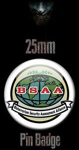 BSAA LOGO 25mm BADGE Resident Evil Biohazard RE Image Bioterrorism Security