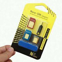 5 IN 1 PACK NANO to MICRO & STANDARD SIM CARD ADAPTER Universal Mobile Phones SE
