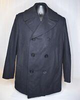 DSCP by Sterlingwear of Boston AUTHENTIC US Navy Pea Coat 100% Wool Size 44S