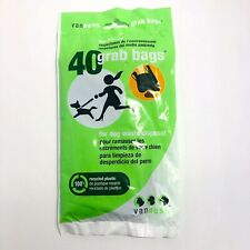 VanNess 40 Grab Bags Eco Friendly Dog Waste Grab Bags Disposal Recycled Plastic