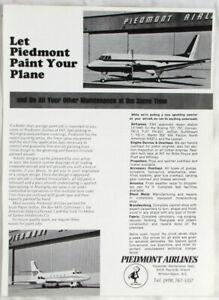 Vintage 1970 Piedmont Airlines Print Ad