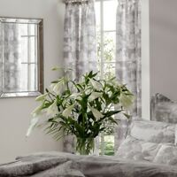 "Kew Gardens Toile Grey 100% Cotton Pencil Pleat Curtains 66""x72"""