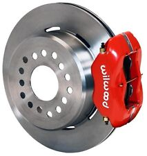 """WILWOOD DISC BRAKE KIT,REAR PARKING,GM,CHEVY SPECIAL,3.15"""" BEAR.,12"""" ROTORS,RED"""