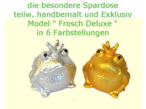 Spardose / Sparbüchse / Geldgeschenk / Hochzeit / Pomme Pidou Frosch Gold-Silber