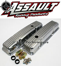 SB SBC  327 350 Retro Small Block Chevy Finned Aluminum Short Style Valve Covers