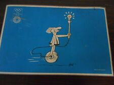 6 B.C. CAVE MAN PLACE MATS FROM THE 1972 OLYMPIC GAMES AT MUNICH