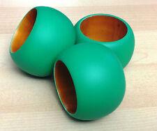 EMERALD GREEN WOODEN NAPKIN RING (SOLD INDIVIDUALLY)