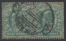 GB KE7 1/2d PAIR SCROLL PMK MANCHESTER STATION LATE BOX