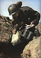 COLOR Photo German WWII Trooper with Supplies