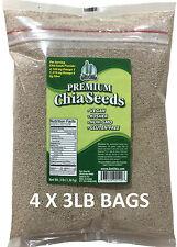 12 LBS Premium WHITE Chia Seed Get Raw Vegan Gluten-Free Non-Gmo Grown Organic
