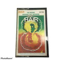 Hair Original Broadway Cast Recording Soundtrack Cassette Vintage Musical Play