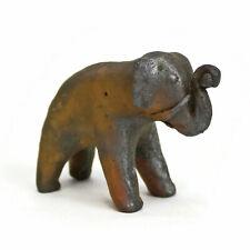 Primitive Asian Elephant Figurine Sculpture | Mystery Material! | Vtg Handmade